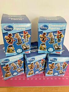 Disney Cinemagic Set 5 Figures Tomy Yujin Dumbo Pinocchio Pooh Mermaid Steamboat