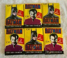 Topps Batman Trading Cards, 1st Series, Vintage 1989 Packs - Lot of 6