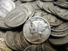 Lot Of 10 Mercury Dimes 1$ Face Value 10 Rare Mercury Dimes Great Investment