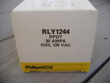 Philips ECG component RLY1244 DPDT 30 amps coil 120 VAC