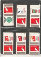 Brymay Redheads Matchboxes ADVERTISEMENTS Set of 6