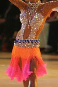 L813  women ballroom Ramba Latin /Rhythm Samba US 6 Dance Dress fringes