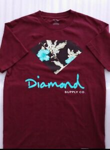 Diamond Supply Co Men/'s Blossom Short Sleeve T Shirt Black Clothing Apparel