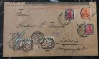 1921 Berlin Germany Early Inflation Rate Cover To Leipzig