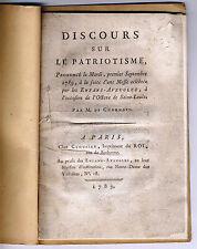 Discours sur le patriotisme messe des enfans-aveugles de Charnois Clousier 1789