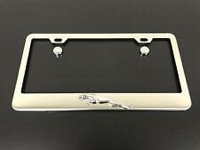 (1) 3D JaguarLEAPER Emblem STAINLESS STEEL Chrome License Plate Frame Holder
