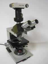 BAUSCH LOMB BALPLAN BINOCULAR/TRINOCULAR MICROSCOPE W/ EYEPIECES 3 OBJECTIVES