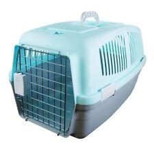LARGE PLASTIC PET DOG CAT RABBIT CARRIER TRAVEL  BASKET CRATE BOX CARRY HANDLE