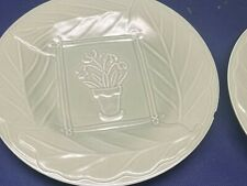 "Pfaltzgraff Green ""Flower Pot"" Small Dinner Plates Set of 3."