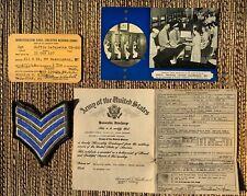 WW II US Black Soldier Paper Ephemera Collection