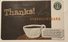 Starbucks THANKS Indianapolis TEST Card Only Available July & Aug 2009  Indiana
