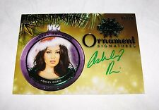 2015 Benchwarmer ASHLEY DORIS Holiday #10 ORNAMENT Green Auto/10 PLAYBOY Sexy