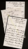 1877 ARBROATH, MIDDLETON HOUSE, LETTERS FROM MRS E MACLAINE AND C. S. MACLAINE