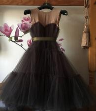 LANVIN for H&M  TULLE TUTU  PUFF SILK DRESS UK 6-8/ EU 34