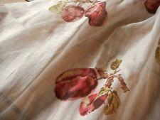 Antique Unique Plum Fruit Voile Lawn Light Cotton Fabric ~ Tawny Reds Olive