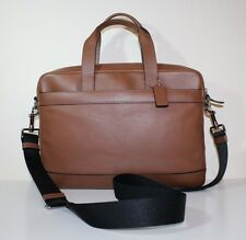 NWT COACH Men's Hamilton Leather Business Briefcase Leather F54801 Saddle $450