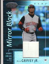 2002 02 Leaf Certified Ken Griffey Jr Base Patch Mirror Black 1/1 Read