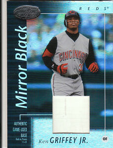 2002 02 Leaf Certified Ken Griffey Jr Base Patch Mirror Black 1/1 Read