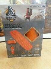 Standing Bear Compact Camping Inflatable sleeping pad/mat with Pillow BNIB