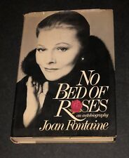 JOAN FONTAINE HAND SIGNED NO BED ROSES AUTOGRAPHED HARD COVER BOOK WITH COA 1ST