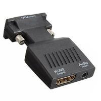 1080P VGA Maschio A HDMI Femmina Adattatore Convertitore con Audio USB Cavo HK