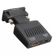 1080P VGA Maschio A HDMI Femmina Adattatore Convertitore con Audio USB Cavo C9L3
