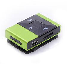 Mini USB2.0 Clip Digital Mp3 Music Player Support 8GB SD TF Card Grün Hot MP3 DE