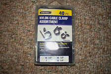 NYLON CABLE CLAMP ASSORTMENT PLUMBING ELECTRICAL AUTOMOTIVE CONSTRUCTION