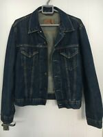 LEVIS RED TAB SIZE LARGE LADIES GIRLS  BLUE DEMIN JEAN JACKET GOOD CONDITION