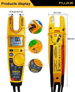 Fluke T6-1000 PRO NCV Clamp ammeters AC/DC 200A 1 Ω to 100 kΩ True RMS with Case