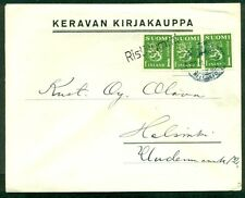 FINLAND 1947, Village cancel RISTINUMMI ties 1mk stamps to local cover, VF