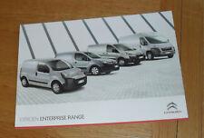 Citroen Enterprise Van Range Brochure 2010 - Nemo Berlingo Dispatch Relay