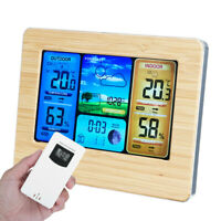 In/Outdoor Digital LCD Clock Wireless Weather Station Calendar Thermometer US