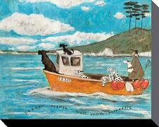 SAM TOFT (DOGGER, FISHER, LIGHT VESSEL AUTOMATIC) Canvas  Print 40 X 50cm