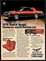 1978 BUICK Regal Sport Coupe 2-dr Vintage Seventies 70s Car Photo AD