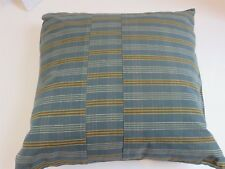 Calvin Klein Kashmir Madras Stripe Blue deco pillow NWT $125