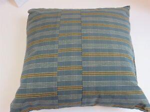 Calvin Klein Kashmir Madras Stripe Blue deco pillow NWT $125
