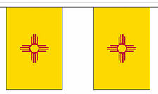 NEW MEXICO U.S. STATE BUNTING 9 metres 30 flags Polyester flag
