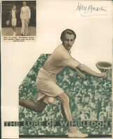 "Autograph Tennis Henry William ""Bunny Austin ""Wimbledon  1930's  Signature"