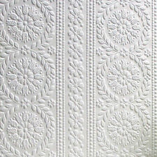 Textured Vinyl Embossed Paintable Flower Wallpaper Luxury Townsend Anaglypta