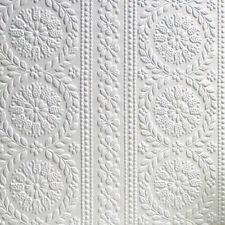 Brewster Rd340 Anaglypta Wallpaper 21-inch X 396-inch Whites