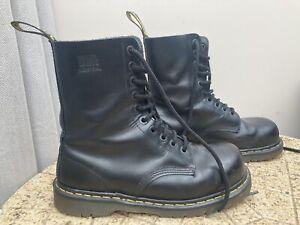 dr martens steel toe cap boots Size 9, 10 Hole