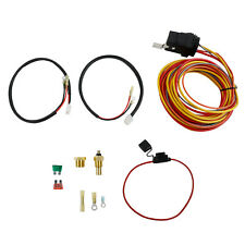 Dual Electric Cooling Fan Wiring Install Kit 165/185 Thermostat 40 AMP Relay