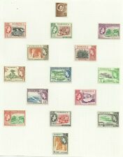 Dominica 1954 Set of 19 hinged to page, Sg 140-158, Mounted Mint. {C/P 67}