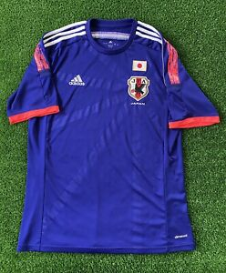 JAPAN 2014 2015 HOME FOOTBALL SHIRT SOCCER JERSEY ADIDAS G85287 Men's Sz Large