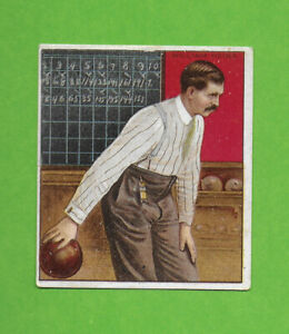 1910 Mecca T220 Bowling William Heins turn of the 20th century bowler SHARP!