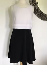 THE LIMITED Womens Black and White Career Sleeveless lined Dress Size 4