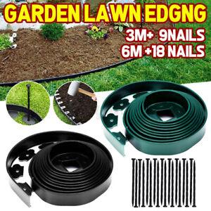 5/6/10m Lawn Edging Border Flexible Garden Path Grass Plant Fence Landscape AU