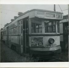 MM945 RP 1952 DETROIT STREET RAILWAY TROLLEY #3840 ROUGE BAKER YARD LINE QUIT