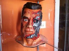 HEAD TERMINATOR T 800 scala 1:1  MODEL KIT colorato ARNOLD SWARZNEGGER
